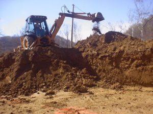 земляные работы - насыпь