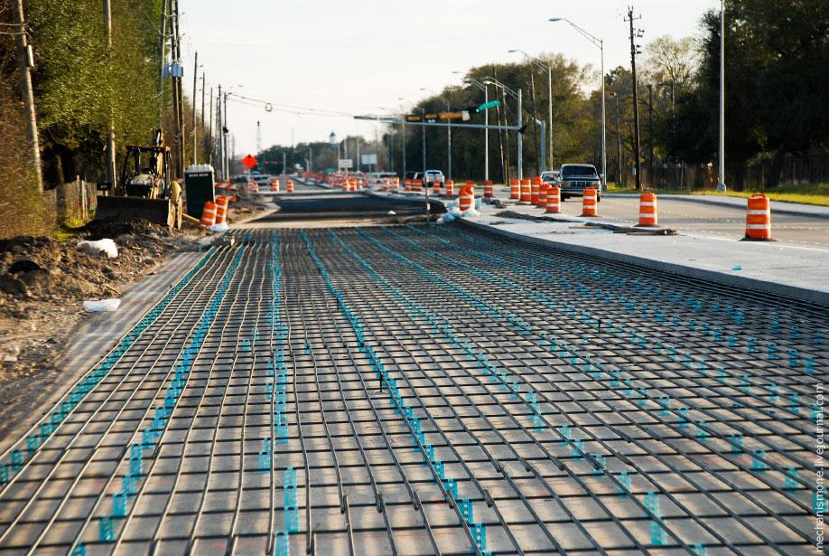 замена асфальтированных дорог на бетонные